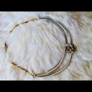 Vintage gold-toned and silver-toned choker